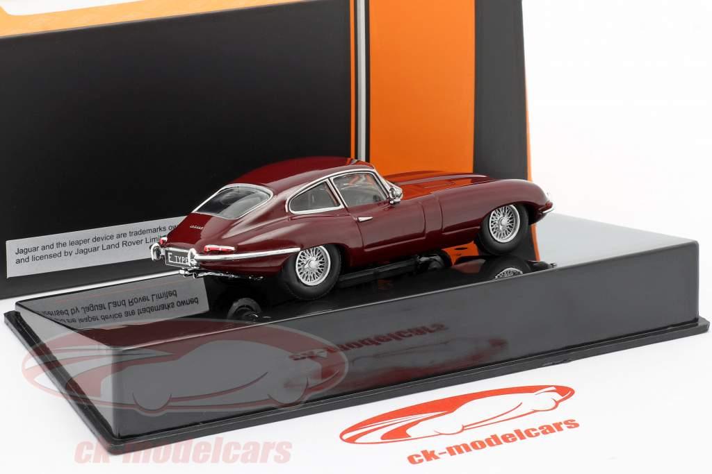 Jaguar E-Type year 1963 dark red 1:43 Ixo