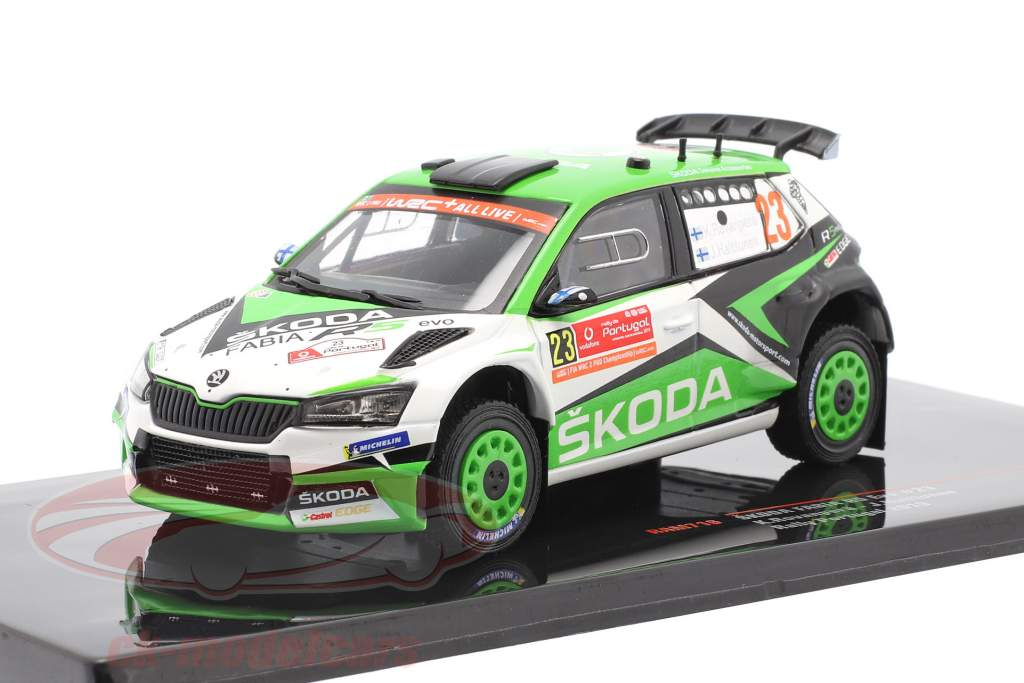 Skoda Fabia R5 Evo #23 6. Rallye Portugal 2019 Rovanperä, Halttunen 1:43 Ixo