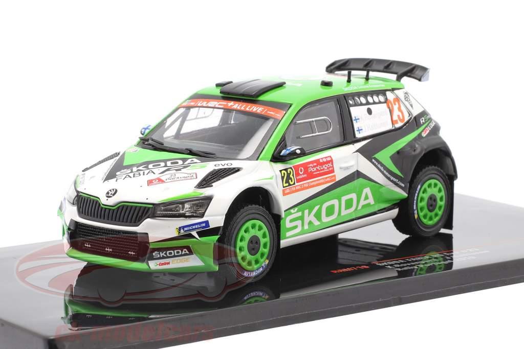 Skoda Fabia R5 Evo #23 6e Rallye le Portugal 2019 Rovanperä, Halttunen 1:43 Ixo