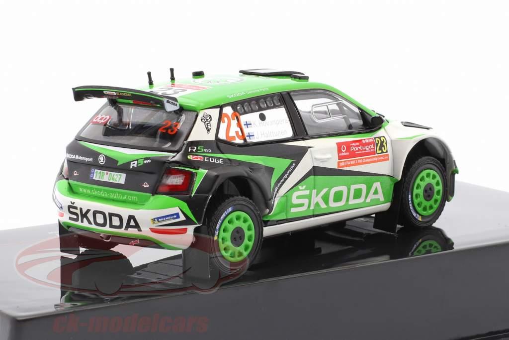 Skoda Fabia R5 Evo #23 6 ° Rallye Portogallo 2019 Rovanperä, Halttunen 1:43 Ixo