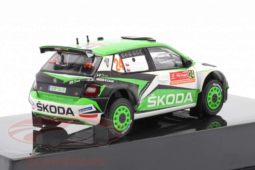 Skoda Fabia R5 Evo #24 8e Rallye Portugal 2019 Kopecky, Dresler 1:43 Ixo
