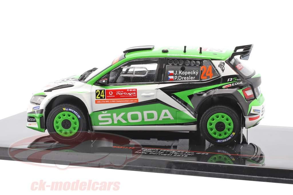 Skoda Fabia R5 Evo #24 8. plads Rallye Portugal 2019 Kopecky, Dresler 1:43 Ixo
