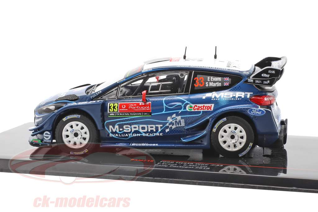 Ford Fiesta WRC #33 5 ª Rallye Portugal 2019 Evans, Martin 1:43 Ixo