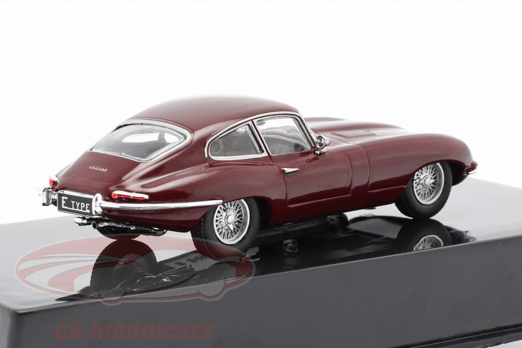 Jaguar E-Type Byggeår 1963 mørk rød 1:43 Ixo
