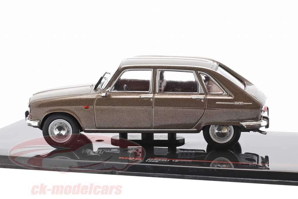 Renault 16 Ano de construção 1969 Castanho metálico 1:43 Ixo