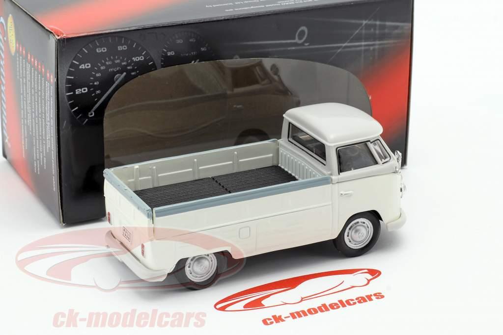 Volkswagen VW T1 Pick Up år 1960 hvid / grå 1:43 Cararama