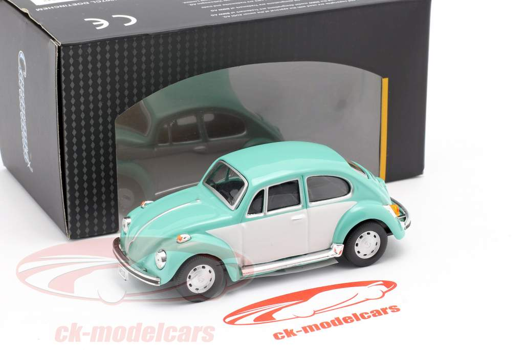 Volkswagen VW Beetle Classic turquesa / Blanco 1:43 Cararama