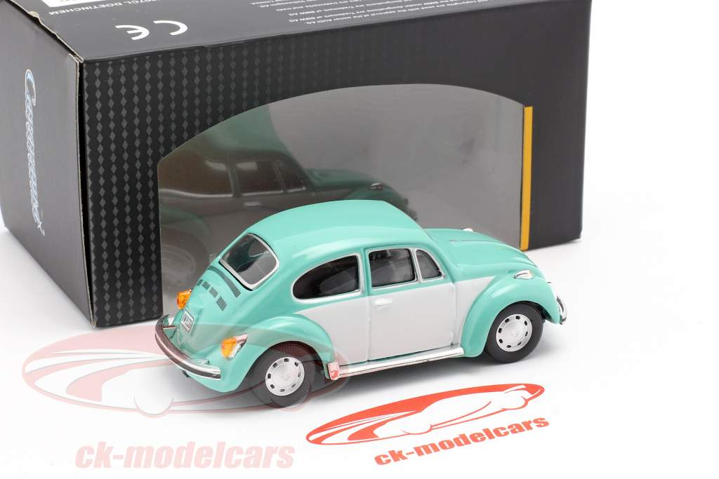 Volkswagen VW Beetle Classic turkoois / Wit 1:43 Cararama