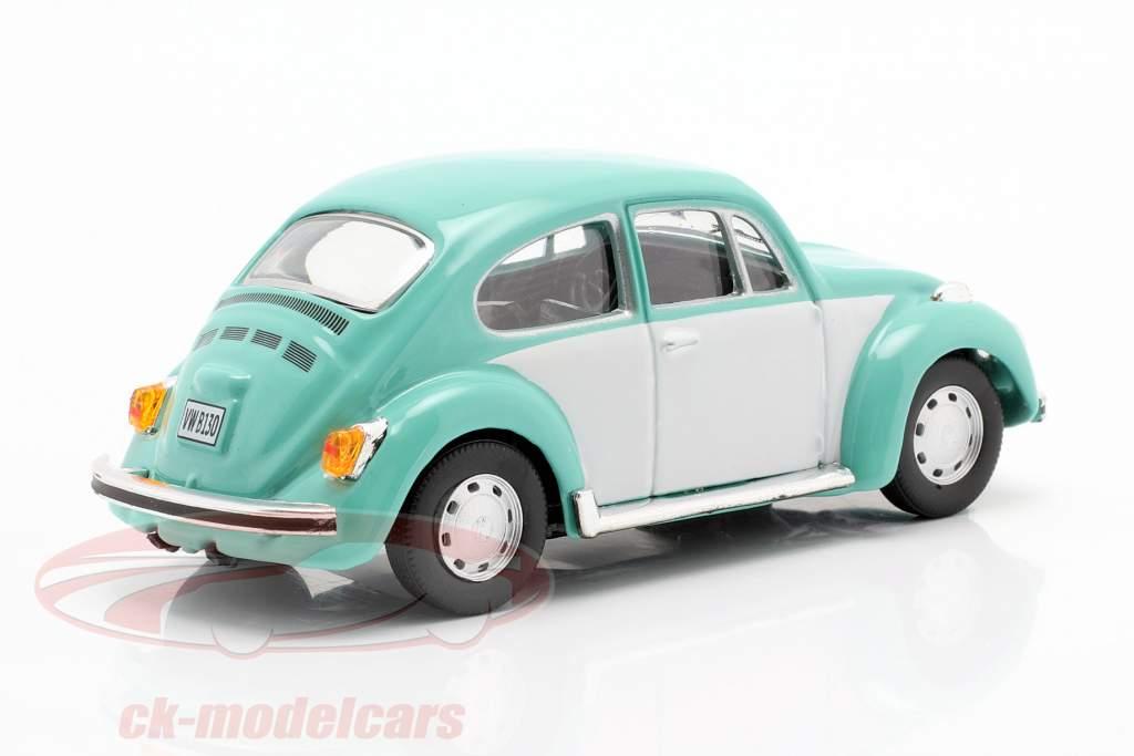 Volkswagen VW Beetle Classic türkis / weiß 1:43 Cararama