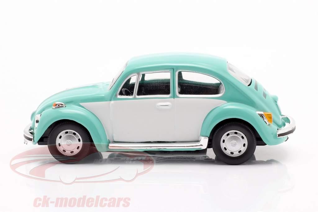Volkswagen VW Beetle Classic turchese / bianca 1:43 Cararama
