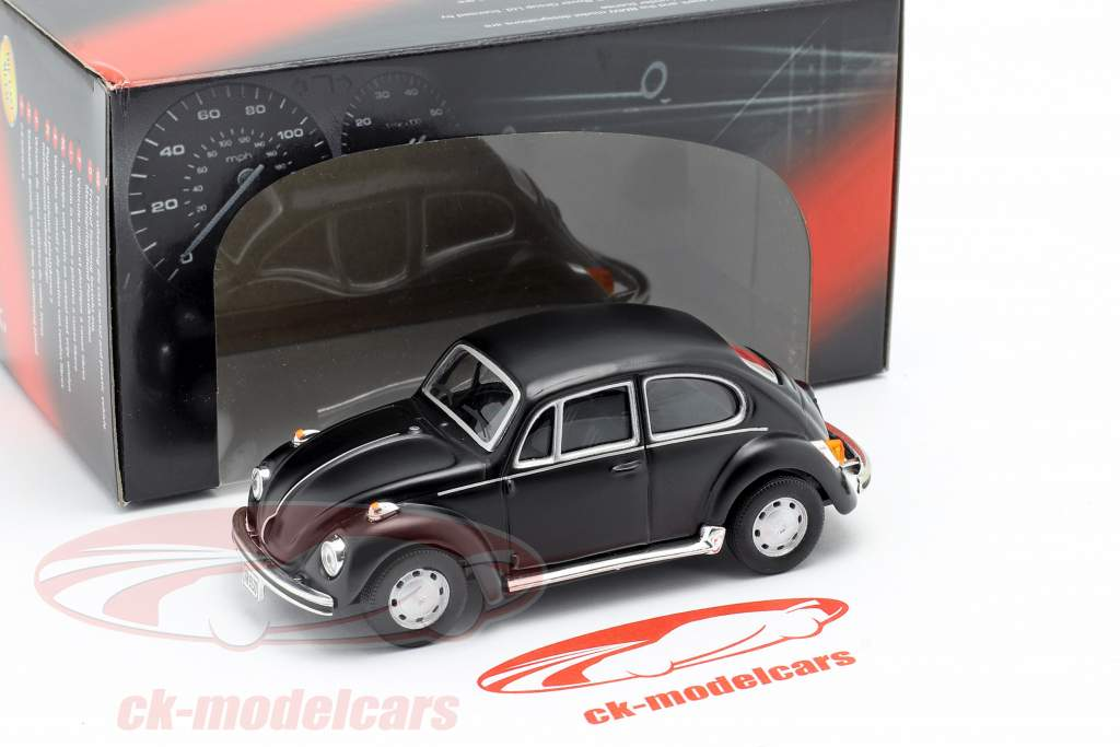 Volkswagen VW Beetle Classic frosted black 1:43 Cararama