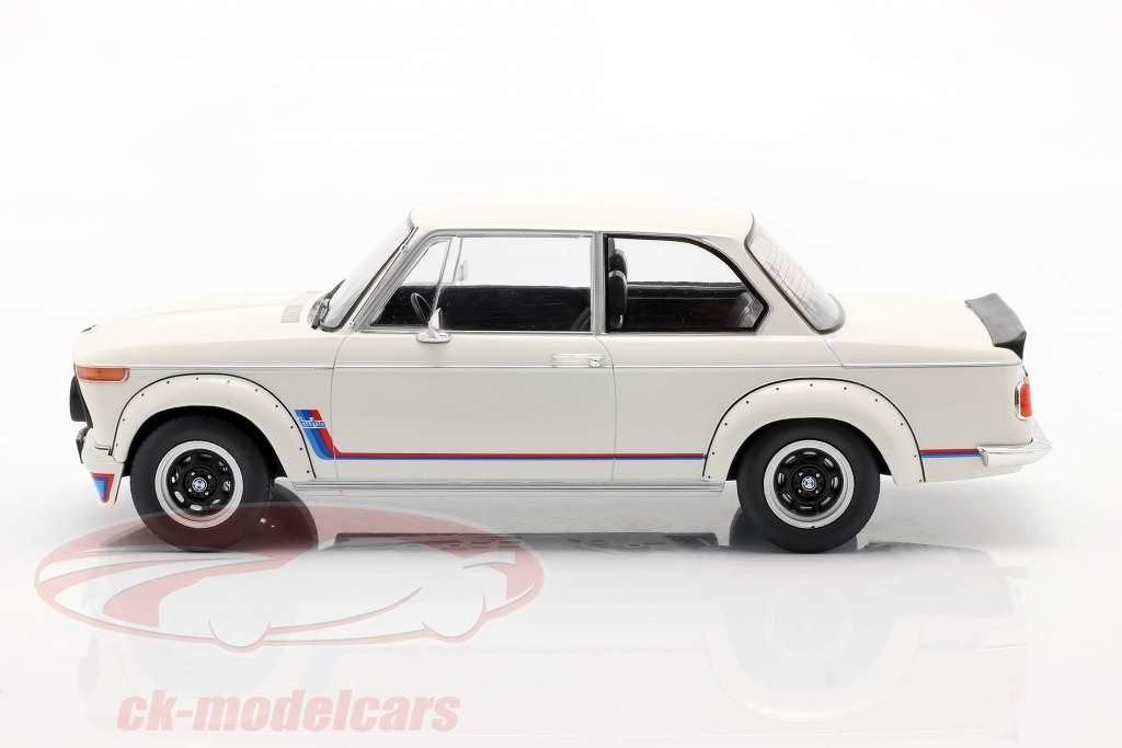 BMW 2002 Turbo (E20) Bouwjaar 1973 Wit 1:18 Model Car Group