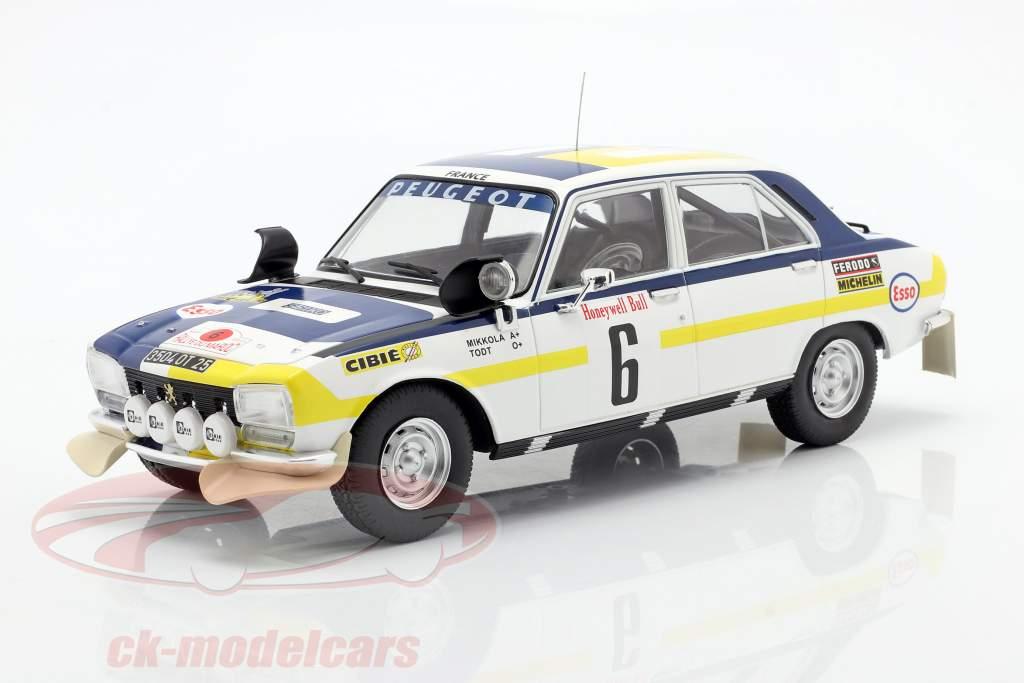 Peugeot 504 Ti #6 Winner Rallye Morocco 1975 Mikkola, Todt 1:18 Ixo