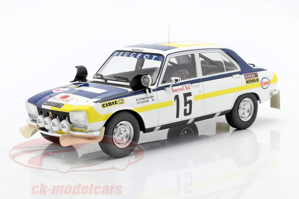Peugeot 504 Ti #15 2 ° Rallye Marocco 1975 Consten, Flocon 1:18 Ixo
