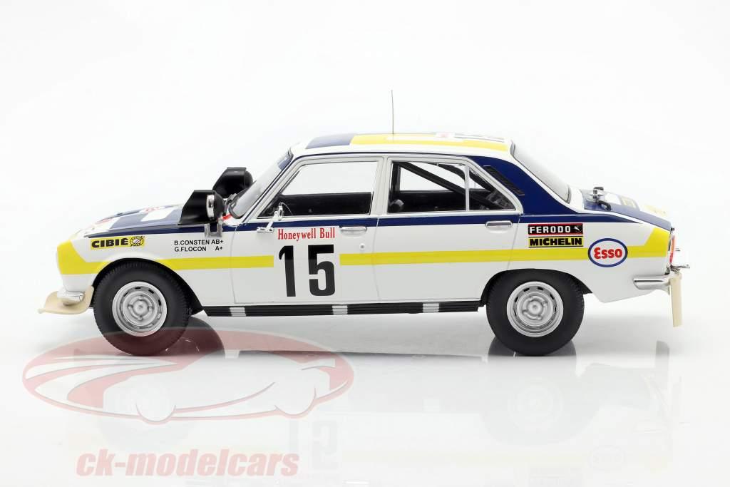 Peugeot 504 Ti #15 2nd Rallye Marokko 1975 Consten, Flocon 1:18 Ixo