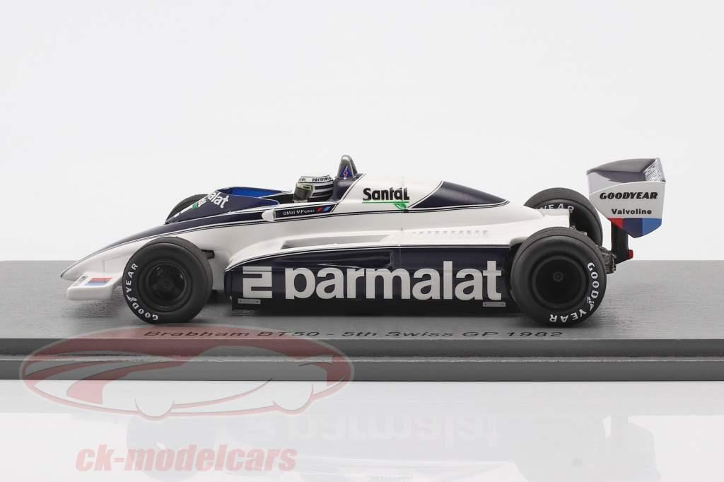 Riccardo Patrese Brabham BT50 #2 Quinto suizo GP fórmula 1 1982 1:43 Spark