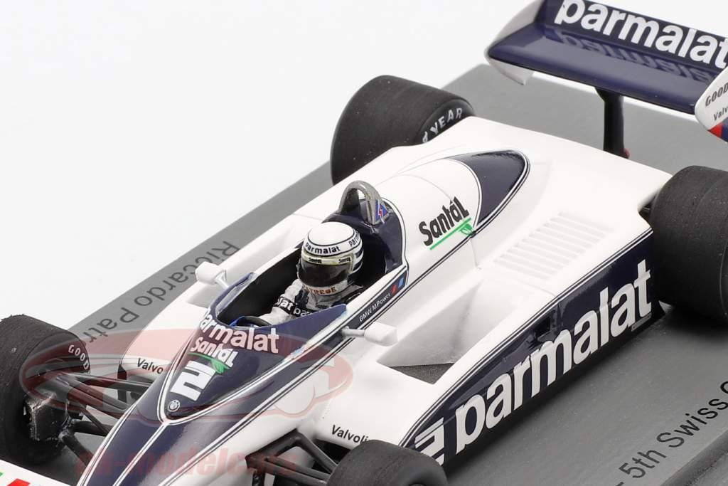 Riccardo Patrese Brabham BT50 #2 5e Suisse GP formule 1 1982 1:43 Spark