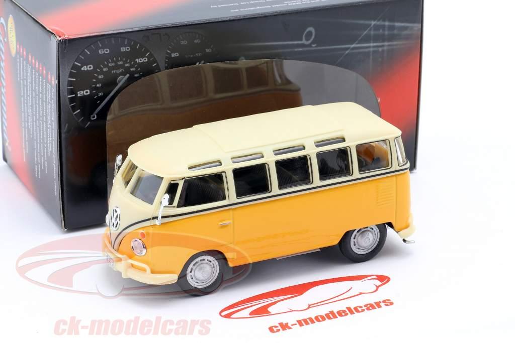 Volkswagen VW T1 Samba Bus yellow 1:43 Cararama