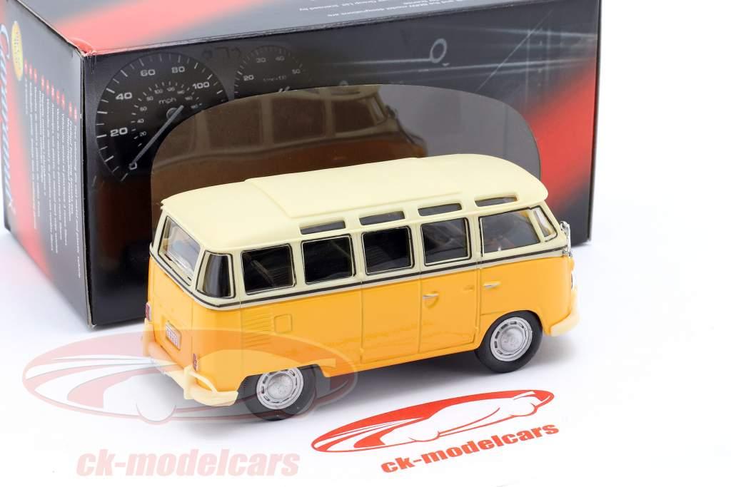 Volkswagen VW T1 Samba Bus amarelo 1:43 Cararama