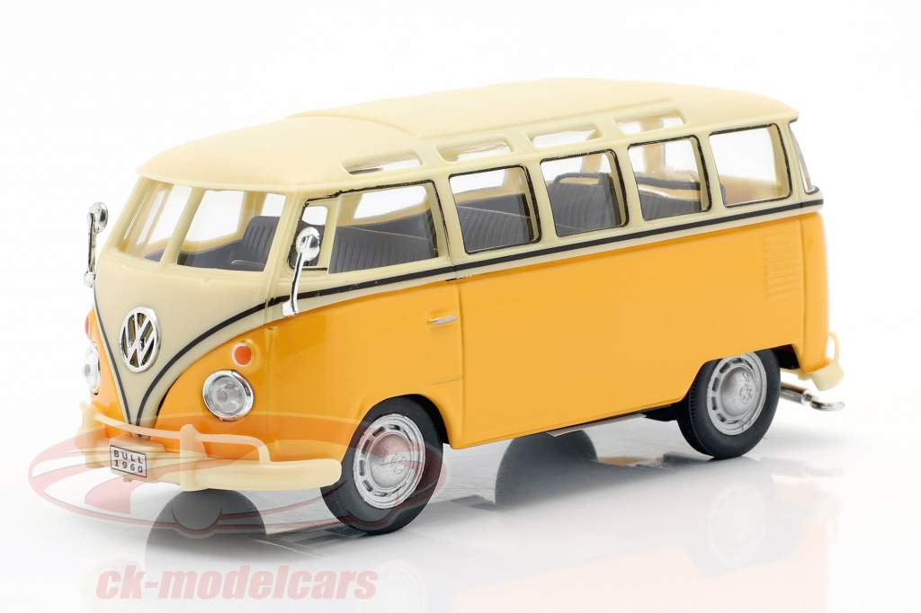 Volkswagen VW T1 Samba Bus amarillo 1:43 Cararama
