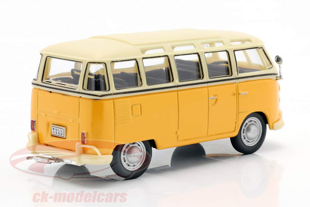 Volkswagen VW T1 Samba Bus geel 1:43 Cararama