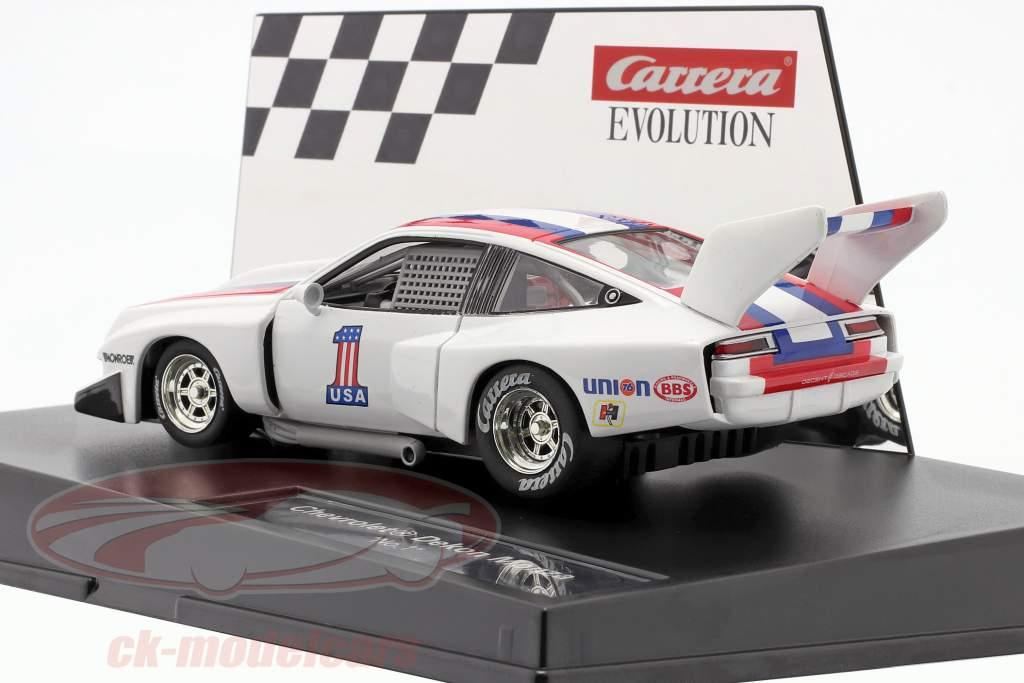 SlotCar Chevrolet Dekon Monza #1 hvid / blå / rød 1:32 Carrera Evolution