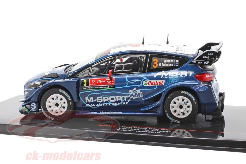 Ford Fiesta WRC #3 4. plads Rallye Portugal 2019 Suninen, Salminen 1:43 Ixo