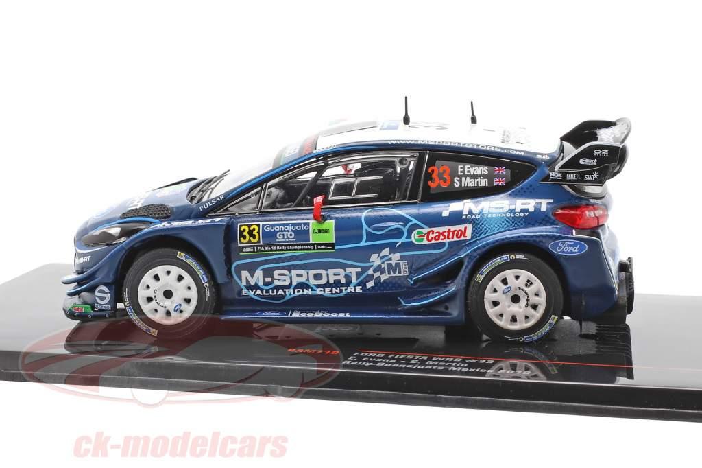Ford Fiesta WRC #33 3 ° Rallye Guanajuato Messico 2019 Evans, Martin 1:43 Ixo