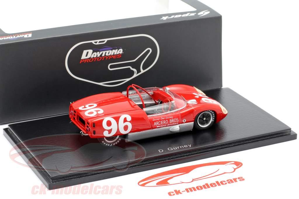Lotus 19 #96 Winner 3h Daytona 1962 Dan Gurney 1:43 Spark