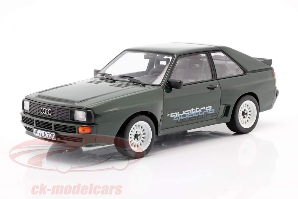 Audi Sport Quattro With quattro decal year 1985 dark green 1:18 Norev