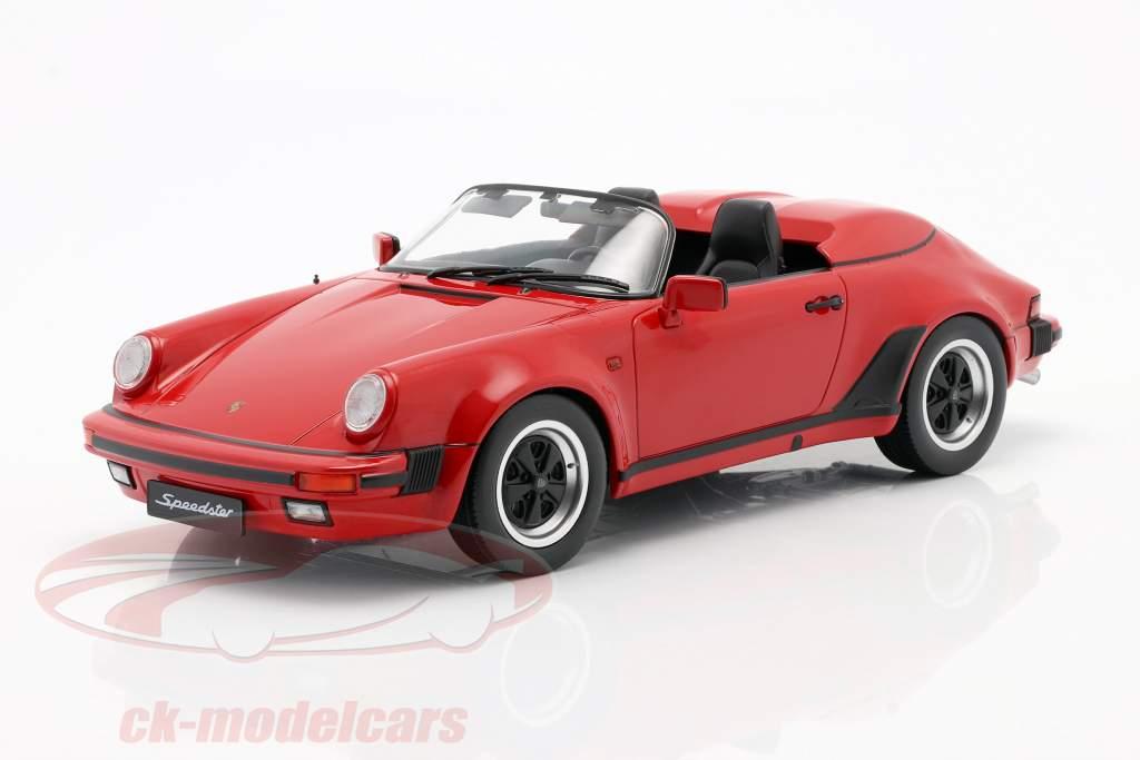 Porsche 911 Speedster Bouwjaar 1989 rood 1:18 KK-Scale