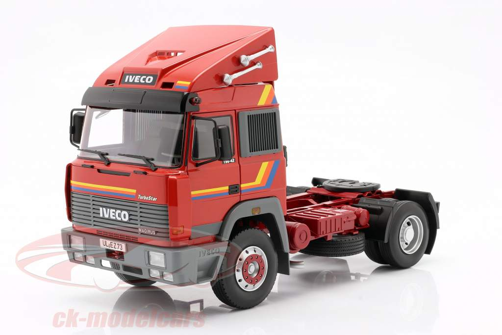Iveco Turbo Star Lastbil Byggeår 1988 orange 1:18 Road Kings