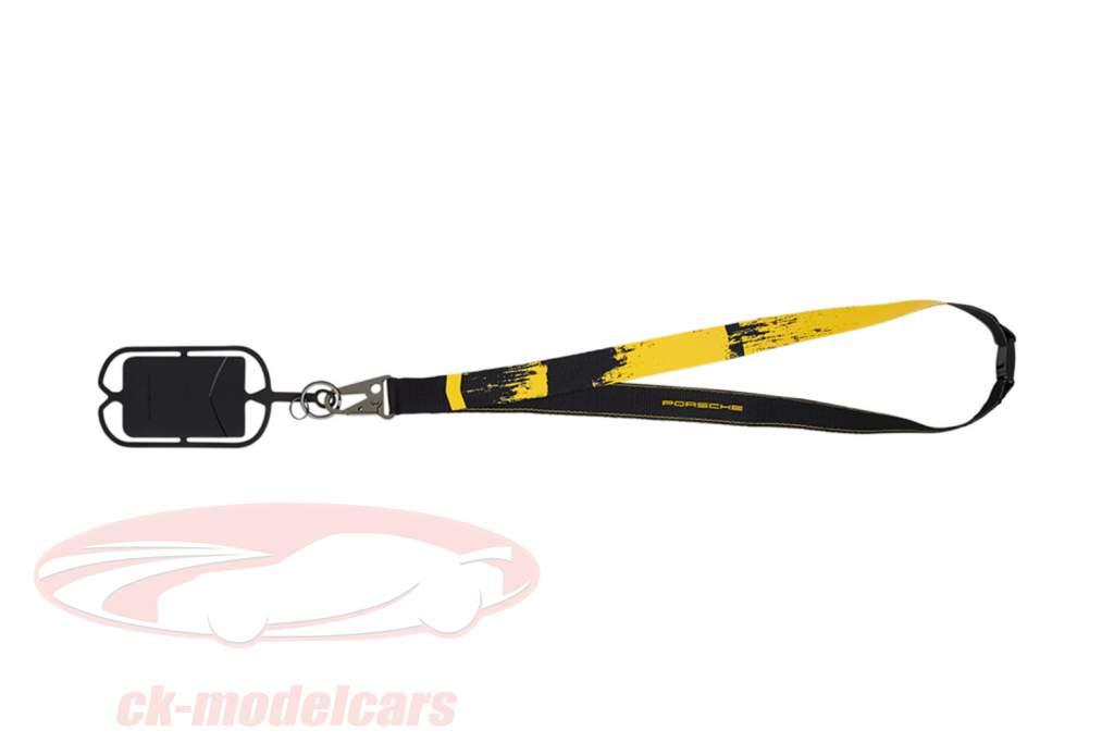 Nøglesnor Porsche 718 Cayman GT4 Clubsport sort / gul