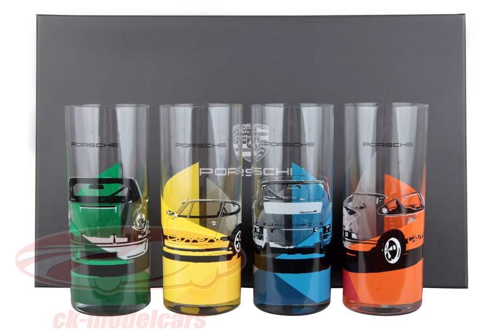 Long drink glasses Set 4 piece Porsche 911 Carrera RS 2.7