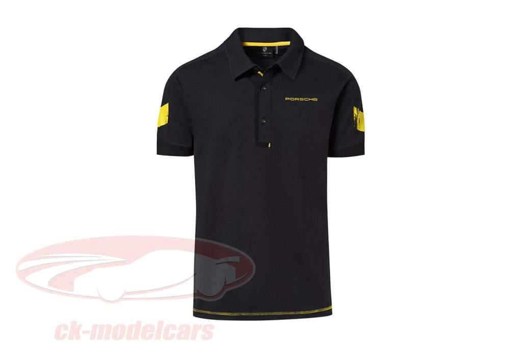 Polo-Shirt Porsche 718 Cayman GT4 Clubsport schwarz / gelb