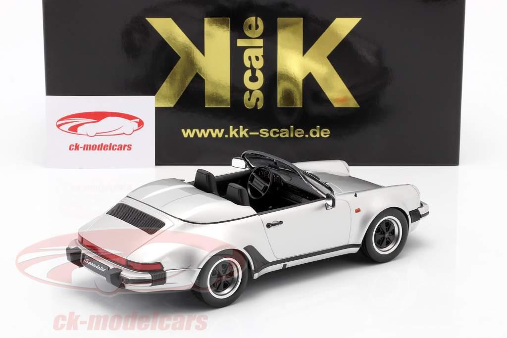 Porsche 911 Speedster Byggeår 1989 sølv 1:18 KK-Scale