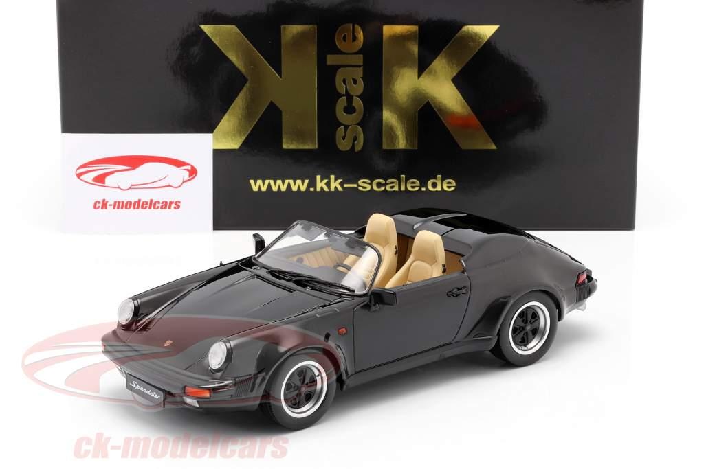 Porsche 911 Speedster Baujahr 1989 schwarz 1:18 KK-Scale