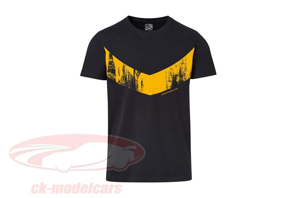 T-Shirt Porsche 718 Cayman GT4 Clubsport schwarz / gelb