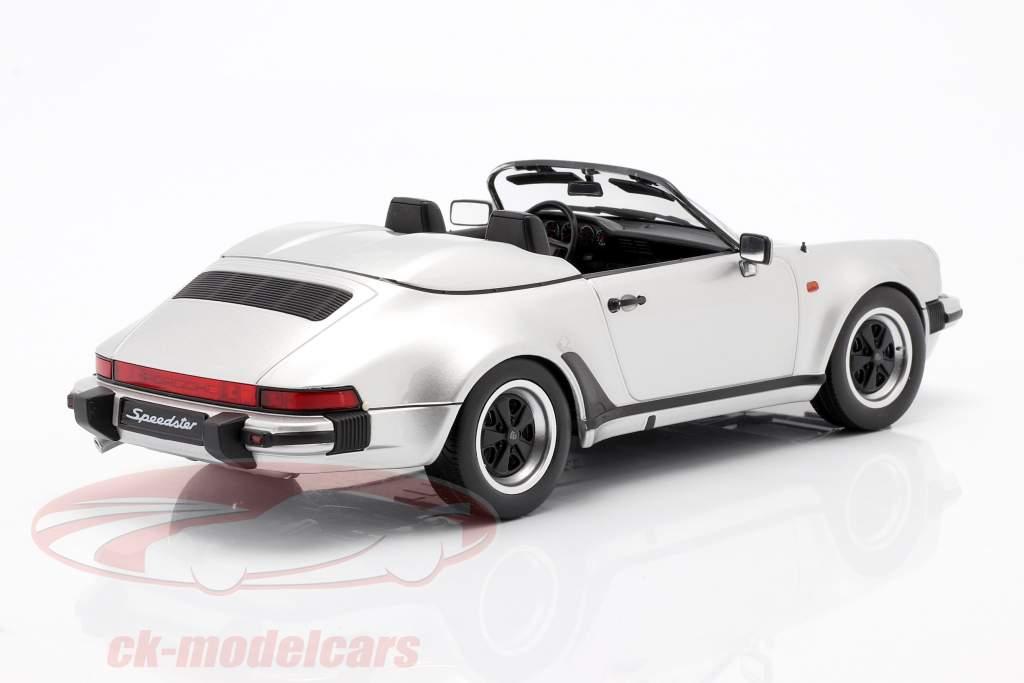 Porsche 911 Speedster year 1989 silver 1:18 KK-Scale