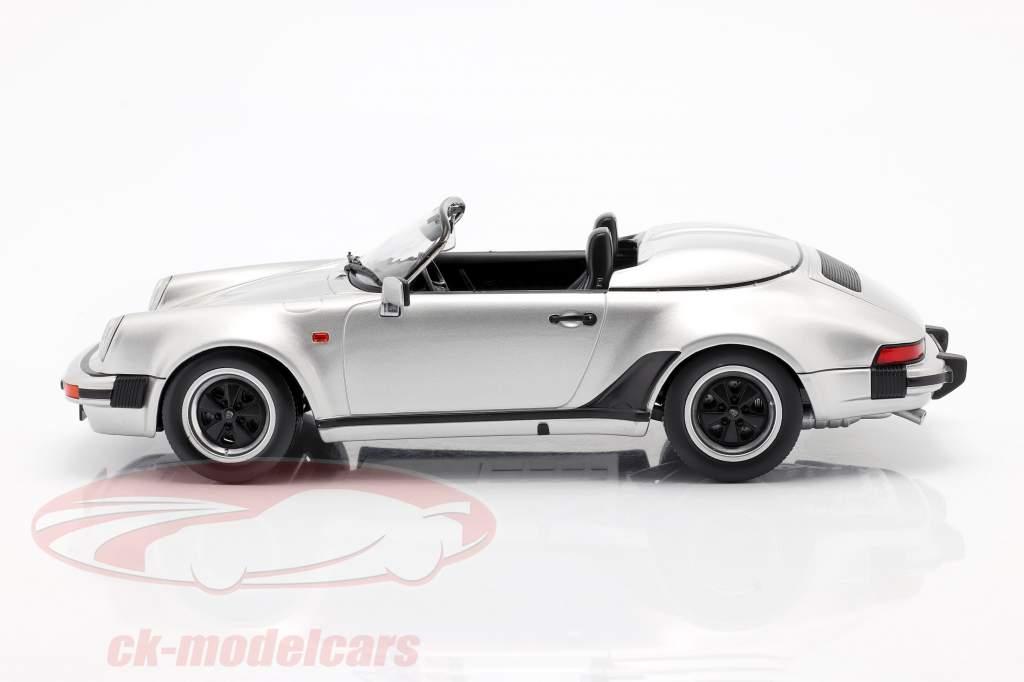 Porsche 911 Speedster Bouwjaar 1989 zilver 1:18 KK-Scale