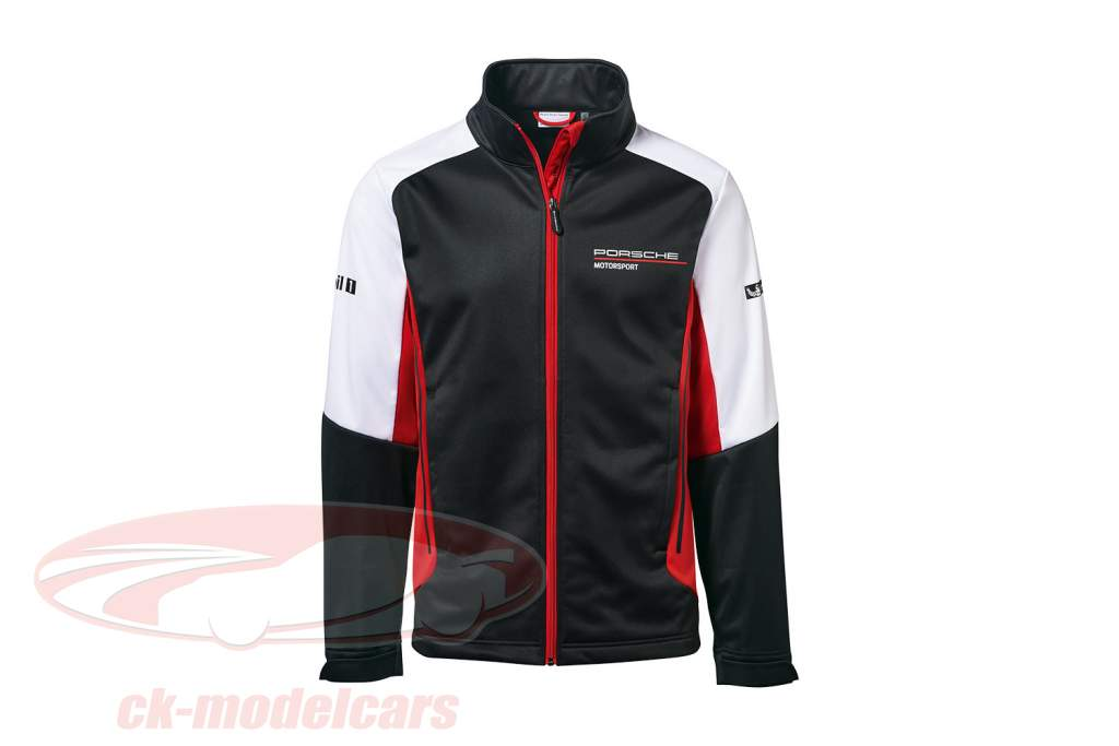 Veste softshell Porsche Motorsport Collection noir / blanc / rouge
