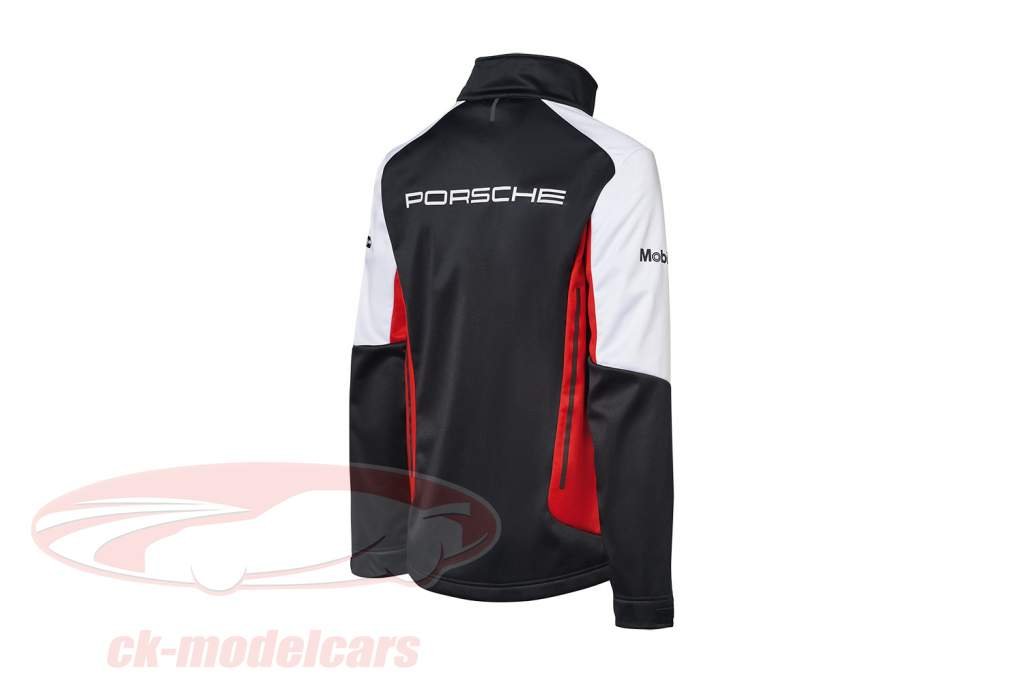 Softshell-Jacke Porsche Motorsport Collection schwarz / weiß / rot