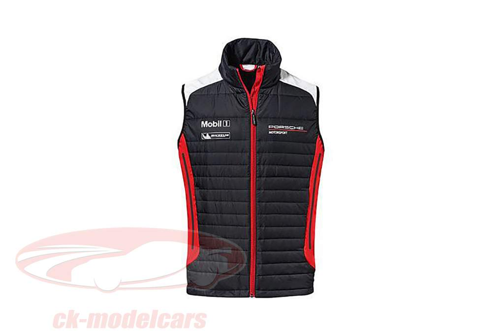 Funktionel vest Porsche Motorsport Collection sort / hvid / rød