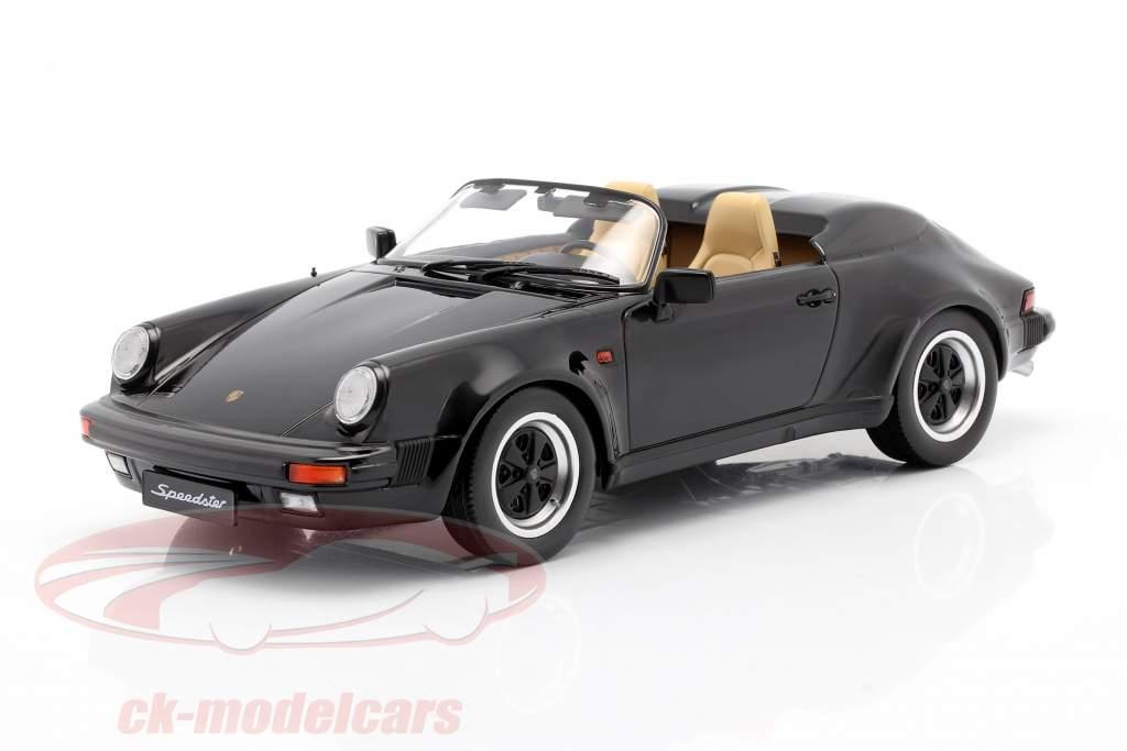 Porsche 911 Speedster year 1989 black 1:18 KK-Scale
