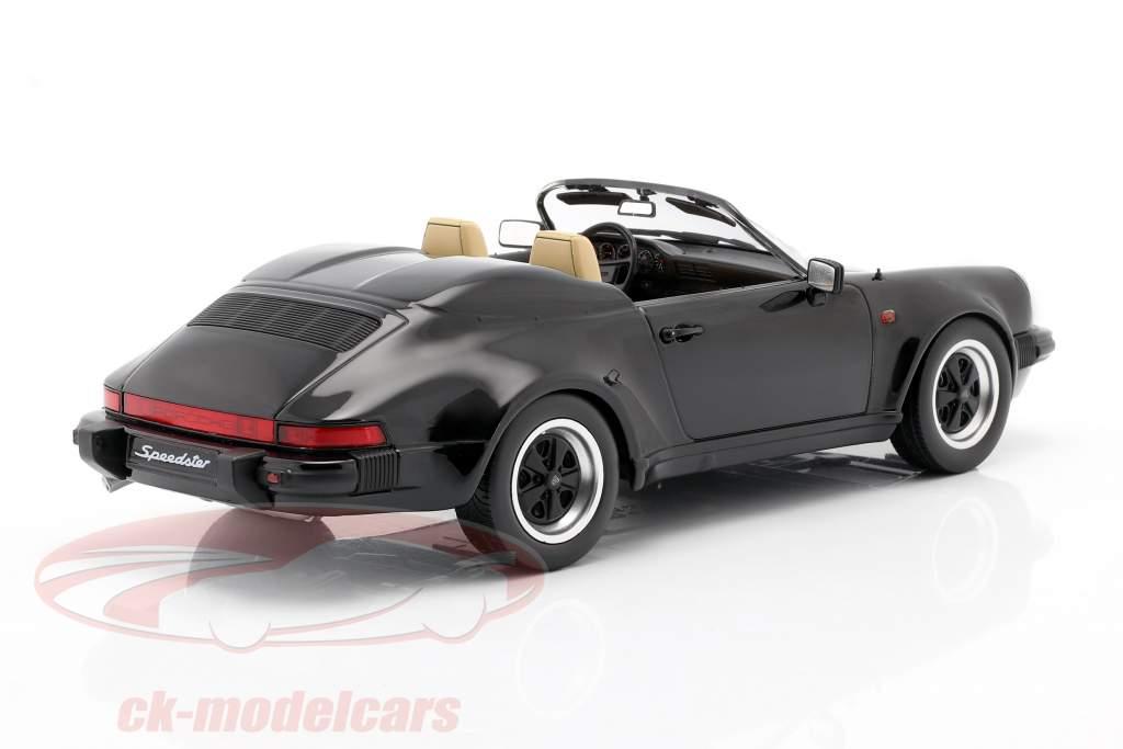 Porsche 911 Speedster Byggeår 1989 sort 1:18 KK-Scale