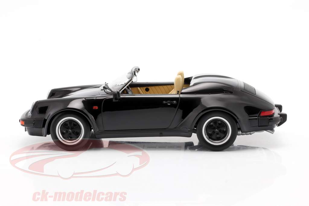 Porsche 911 Speedster Ano de construção 1989 Preto 1:18 KK-Scale