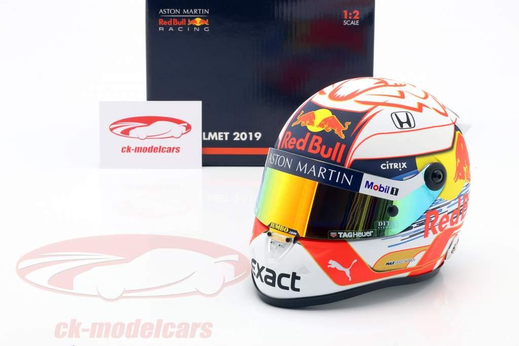 Max Verstappen #33 Aston Martin Red Bull Racing formel 1 2019 hjelm 1:2 Schuberth