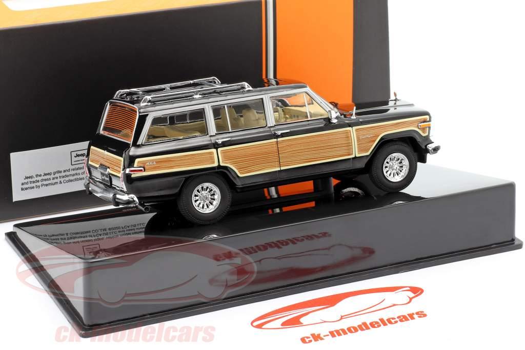 Jeep Grand Wagoneer 4WD year 1989 black / wood look 1:43 Ixo