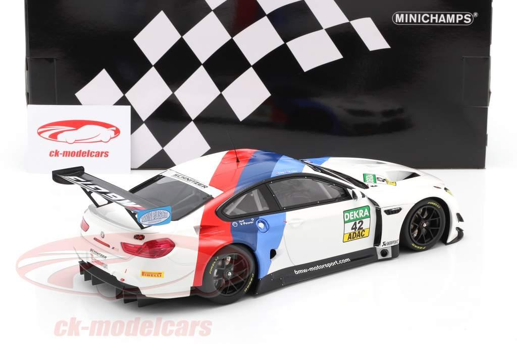 BMW M6 GT3 #42 Winnaar GT Masters Oschersleben 2017 Collard , Eng 1:18 Minichamps