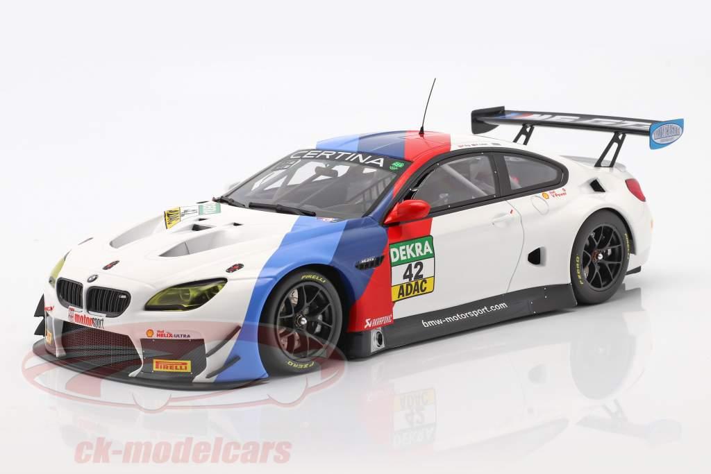 BMW M6 GT3 #42 Gagnant GT Masters Oschersleben 2017 Collard , Eng 1:18 Minichamps